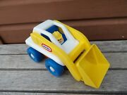 Vtg Little Tikes Toddle Tots Bulldozer Front Loader And Construction Worker Figure