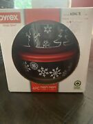 Pyrex Simply Store Clear 4 Pc Set Limited Edition Christmas Snowflakes New