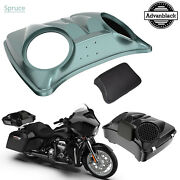 Spruce Dual 8and039and039 Speaker Lids For Advanblack/harley Chopped Tour Pak Pack