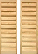 Ltl Home Products Shl47 Exterior Solid Wood Louvered Window Shutters, 15 X 47,