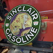 Vintage 1953 Sinclair Gasoline And039and039casper The Ghostand039and039 Porcelain Gas And Oil Sign