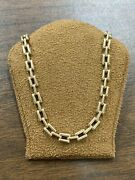 Solid Classy Estate 14kt Yellow Gold Bar Linked Necklace