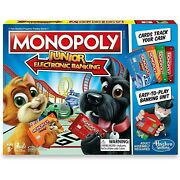 Monopoly Junior Cat Dog Electronic Banking New