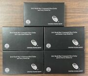 2018 Wwi Centennial Proof Silver Dollar Coin And Medal Sets All 5 Ogp Sets