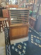 Antique Belding Bros And Co Drugstore Display Spool Cabinet