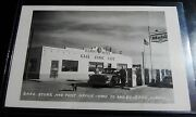 Gage New Mexico Nm Rppc Real Photo Mobil Gas Station Car Store Cafe Post Office