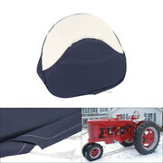 Tractor Seat Cushion Blue And White Fit For Farmall H M 300 450 Cub Pan Seat