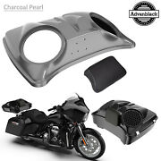 Charcoal Pearl 8and039and039 Speaker Lids For Advanblack/harley Chopped Tour Pak Pack
