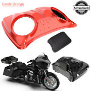 Candy Orange 8and039and039 Speaker Lids For Advanblack/harley Chopped Tour Pak Pack