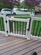 Deck Gate 2 Sizes Of Height X 48 Width Vinyl With Aluminum Inserts 4 Colors