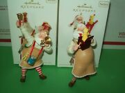 Hallmark Lot Toymaker Santa 11th And 13th Horn + Jack In The Box 2010-12 Ornaments