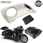 Bonneville Salt Pearl 8and039and039 Speaker Lids For Advanblack/harley Chopped Tour Pack