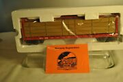 Mth Rail King Center I Beam Flat Car W Wood Lumber Load Canadian Pacific O Scale