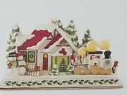 Lenox Holiday Santa And Train Lit Musical Mantel Piece / Centerpiece Plays 8 Songs