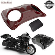 Billiard Red 8and039and039 Speaker Lids For Advanblack/harley Chopped Tour Pak Pack