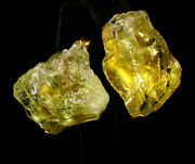 Vintage Signed Fine Large Natural Raw Peridot Crystal 18k Gold Nugget Earrings