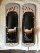 Vintage Lake Wooden Big Foot Shoe Water Skis 22 Inches Long 7 Inches Wide