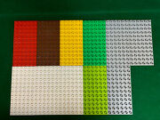Lego Duplo 6x12 Dot Flat Base Plate Red, Gray, Brown, Lime Green Lot Of 11
