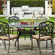 Darlee Florence 7 Pc Cast Aluminum Dining Set With Round Table - Antique Bronze