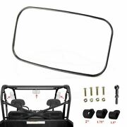 Rear Side View Mirror For 1.75and039and039 2and039and039 Clamp Utv Atv Polaris Ranger 400 Rzr Honda