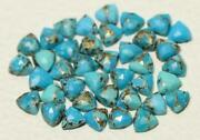 Natural Blue Copper Turquoise Trilloin Rose Cut Loose Gemstone 21m To 25mm