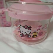 Sanrio Hello Kitty Microwave Rice Glass Steamer Cooker Set In Box
