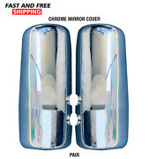 Kenworth Truck T680 T880 Chrome Mirror Cover Left And Right Pair 2013-2018