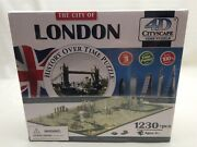 4d Cityscape Jigsaw Puzzle - London City Map With Time Layer New Sealed Factory