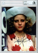 Jodie Foster Signed Autographed 8x10 Photo Taxi Driver Encapsulated Beckett Bas