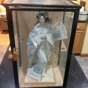 """Vintage Japanese Nishi Doll - Snow Queen, 18"""" W/glass Display Case"""