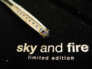 S.t. Dupont Lt. Ed. 2001 Sky And Fire Ballpoint Pen With 15 Sapphires New