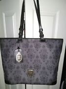 Dooney And Bourke Disney Inspired Haunted Mansion Large Tote - Wallpaper Theme