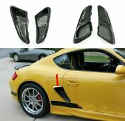 For 06-12 Porsche Caymans 987 Boxster S Carbon Fiber Side Vents Scoops Air Ducts