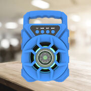 Portable Disco Bluetooth 5.0 Speaker Rechargeable Hd Sound Blue