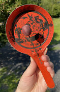 Antique / Vintage Early 20th C. J. Chein Co Halloween Noisemaker Tin Metal