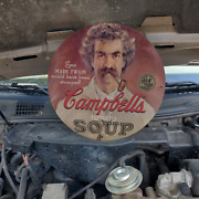 Vintage Campbell's Tomato Soup ''mark Twain'' Porcelain Gas And Oil Pump Sign