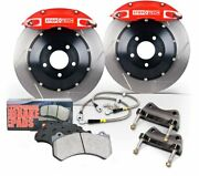 Stoptech 83.895.4300.71 Front Wheel Slotted Big Brake Kit For Gti L4 2l