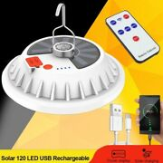 Led Solar Lamp Rechargeable Super Bright Remote Control Outdoor Camping Lantern