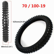 Front And Rear Tires 70/100-19 And 90/100-16 With Tubes For Dirt Pit Bikes Bicycle