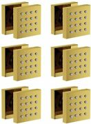 6 Pcs Solid Brass Shower Body Spray Massage Nozzle Wall Jets Polished Gold