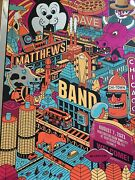 Dave Matthews Band Foil Poster. Chicago 8/7/2021. Northerly Island Methane