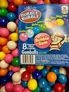 Double Bubble One Inch Gumballs Assorted Flavors 2.5pound Gum Balls 1 Inch