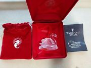 2001waterford Crystal12 Days Of Christmas Ornament7 Swans Swimmingpouchcase