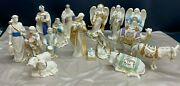 Lot Of 16 Pieces Lenox First Blessing Nativity Figurines Set Retired Set