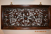Yu Long Fang Antique Chinese Hand Carved Wooden Wall Hanging