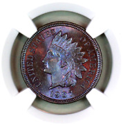 1907 Ms66 Bn Ngc Indian Head Penny Premium Quality Monster Toning