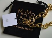 Meme London Harvey Nichols 18k Gold Plated Chain Necklace Andpound180 New Gift Pouch