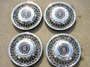 Set Of 4  1989-1991 Oldsmobile 88 / 98 14 Wire Hubcap Wheel Cover Gm 25534041