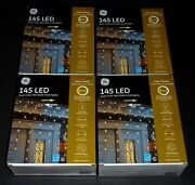 Ge Color Choice 8 In1 Dual Color 145 Led Net-style Icicle Lights 4 Boxes Nib
