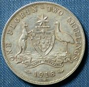 1918 Florin Some Lustre To Rev High Grade Aef See Images